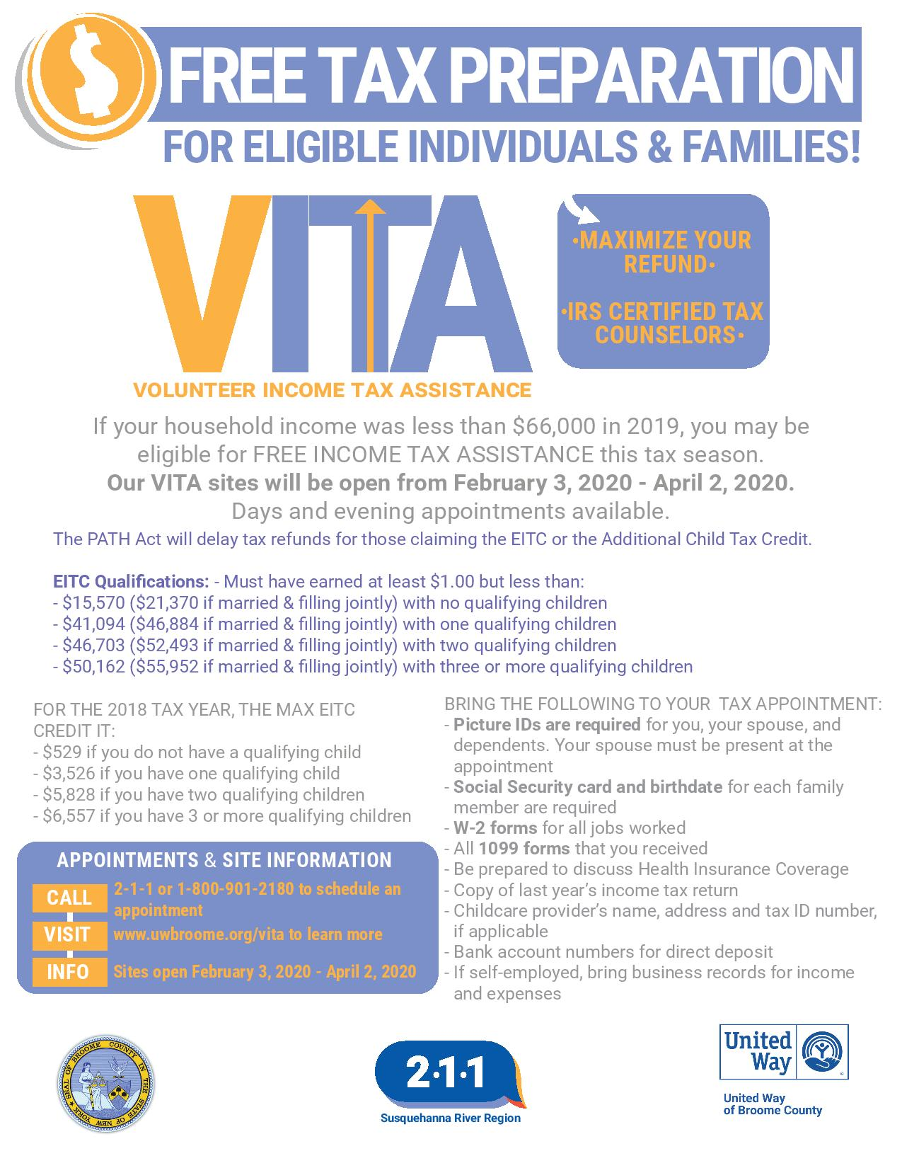 VITA - Volunteer Income Tax Assistance